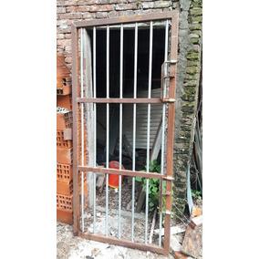 Puerta Reja Caño Estuctural 50x50 Y Caño Galvanizado 1/2