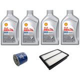 Kit Troca De Óleo + Filtro Ar Hyundai Tucson 2.0 16v Shell