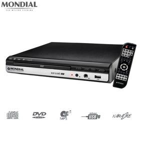Dvd Player Mondial D15 Karaokê Com Pontuação E Usb Bivolt