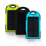 Bateria Solar Externa Powerbank 2 Puertos Usb 6000 Mah