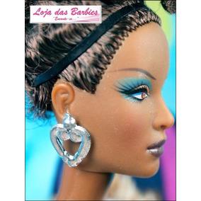 Par De Brincos Coração P/ Boneca Barbie Blythe Monster High