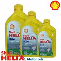 Óleo Motor Shell Helix Hx6 Flex Sae 15w40 Api Sl 3 Litros