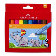 Marcadores Faber Castell Jumbo X 10