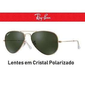 Ray Ban Rb3025, Aviador, Dourado E Lentes Marrom Degradê - Óculos De ... 6ec6240042