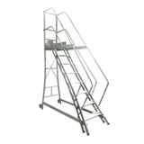 Escada Aluminio Trepadeira 7 Degraus E Corrimao Alulev