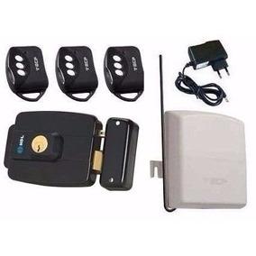 Kit Fechadura Eletrica Hdl Abre P/ Fora +controles +receptor