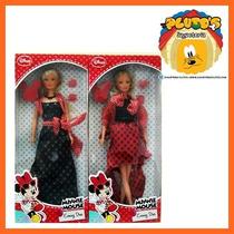 Muñeca Minnie Vestido De Fiesta