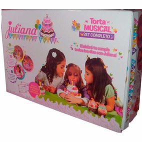 Juliana Cumpleaños Feliz Torta Musical Set Completo Nenas