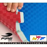 10 Tatamis Reconocido Wtf Bicolor 25mm Gimnasio Fire Sports