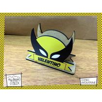Servilletero Evento Personalizado Madera Heroe Wolverine