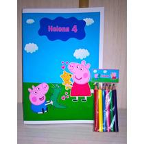 Libros Colorear + Lapices Personalizado Libritos Rompecabeza