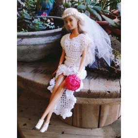 Vestido De Noiva Barbie/ Susi- Roupa De Barbie - Croche