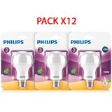 Pack X 12 Bombillo Led Bulb 7w Luz Amarilla E27