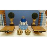Kit Decoração Infantil, Coroas Dourada, Decoração Buffet