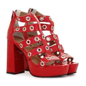 Sandalias De Charol Rojo De Mujer Batistella