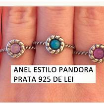 Anel De Prata 925 Feminino Estilo Pandora Cores