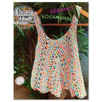 Musculosa Tejida Al Crochet