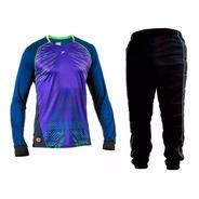 Kit Goleiro 2 Peças 1 Camisa Poker 1 Calça Estofada Futebol