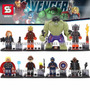 Set 8 Figuras Avengers Marvel Era De Ultron Compatible Lego