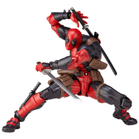 Deadpool Revoltech Action Figure Boneco Dead Pool Hulk Marve
