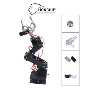 Brazo Mano Robot 6 Dof Arduino Estructura Metal