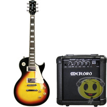 Guitarra Kit Strinberg Les Paul Clp79+ Cubo Mg 10 Kadu Som