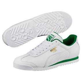 Tenis Puma Roma Piel Autentica White/amazon Green