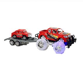 Camioneta 4x4 Con Trailer A Friccion Con Luz Y Sonido