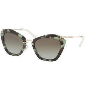 Oculos De Sol Miu Miu Mu 10ns Tartaruga - Óculos De Sol no Mercado ... e8b407ff07