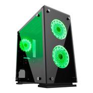 Gabinete Gamer Gamemax H605-ta Led Verde - Lacrado