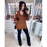 Blusa Tricô Tricot Feminino. Em Promoção Moda Outono/inverno