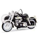 Moto Harley Flh Duo Glide1958 Preta C/sidecar Maisto 1/18