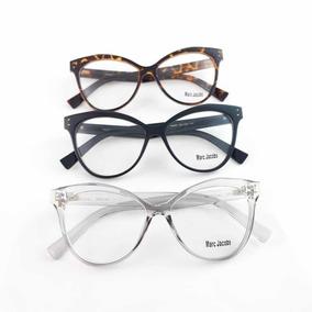 Oculos De Grau Feminino Grande Gatinha Armacoes Marc Jacobs - Óculos ... 72fe668a8d