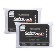 Kit 2 Travesseiros Soft Touch 170 Fios - 50x70 Arte E Cazza