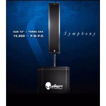 Sistema Alien Symphony Sub 12 250 Watts + Torre 80 Watts