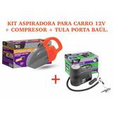 Aspiradora + Compresor Para Carro Tkc 12v 300 Psi