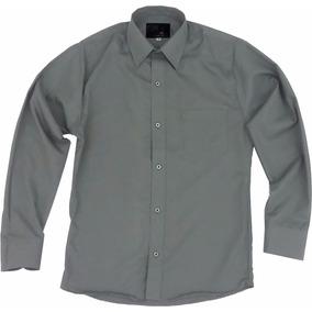 Camisa Vestir Adulto Gris Obscuro Oxford Talla Extra 44 A 50