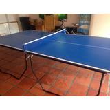 Mesa De Ping Pong Profesional, Plegable, Con Ruedas, Tucci.
