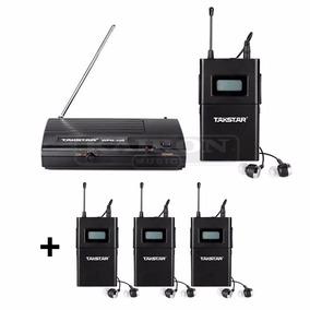Sistema Monitoreo Takstar Wpm 200 + 3 Receptores Adicionales