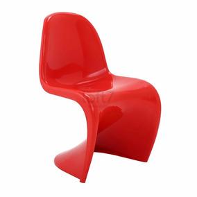 Cadeira Panton - Design - Auto Brilho Vermelho
