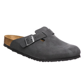 Boston Bf Nubuk Brushed Black Birkenstock
