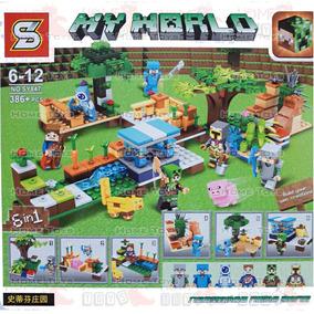 Caixa Grande My World 386 Peças Compativel Lego