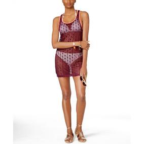 Pareo Vestido Tejido Playero Crochet Salida De Playa - Miken