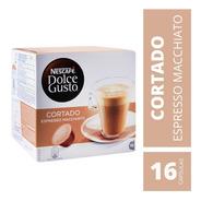 Capsulas Dolce Gusto Cortado Espresso Macchiato Nescafe X16