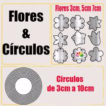 Molde Aluminio Corta Feltro Flores Círculos Frete Gratis
