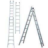 Escada Em Alumínio Extensível 5163 16 Degraus 2 X 8 - Mor