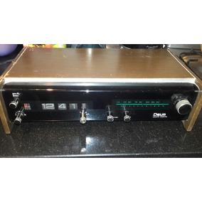 Antiguo Radio Reloj Despertador Delm