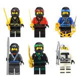 Set Mov Cole Zane Kai Jay Lloyd Ninjago Compatible Con Lego