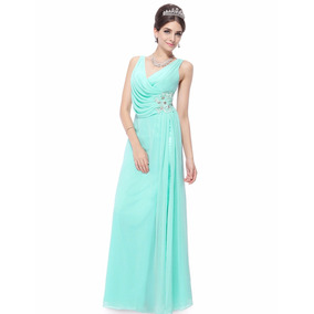 Vestido Festa Tiffany Com Detalhes De Pedrarias E Guipir