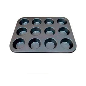 Forma De Cupcake Muffins Petit Gateau 12 Cavas Teflon